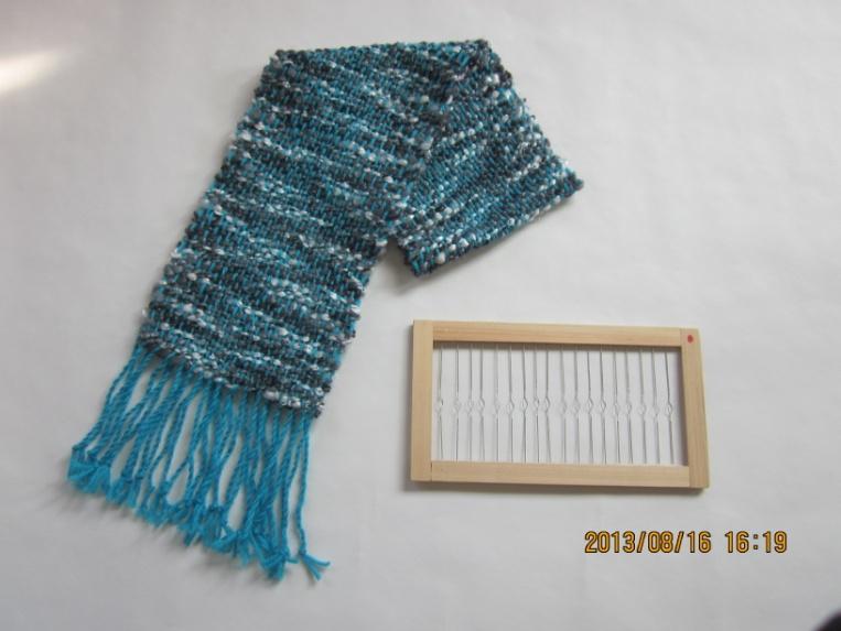 手作り綜絖枠でミニマフラーを織る
